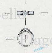 プラチナ900 ダイヤモンド エンゲージリング(婚約指輪)デザイン画