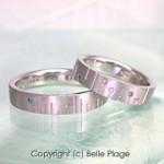 ブルーダイヤモンド マリッジリング(結婚指輪):M-002
