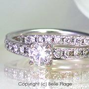 ダイヤモンド 2連エンゲージリング(婚約指輪):E-004