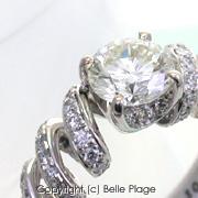 ダイヤモンド スパイラルエンゲージリング(婚約指輪):E-005