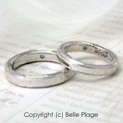 羽モチーフマリッジリング(結婚指輪):M-003