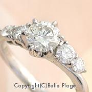 ダイヤモンド エンゲージリング(婚約指輪):E-009