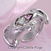 バレエシューズのエンゲージリング(婚約指輪):E-014