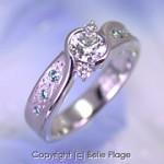 ダイヤモンドエンゲージリング(婚約指輪):E-002