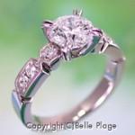 ダイヤモンド エンゲージリング(婚約指輪):E-020