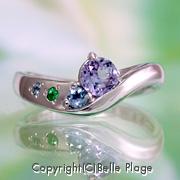 ご家族の誕生石のエンゲージリング(婚約指輪):E-022