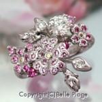 桜が満開のエンゲージリング(婚約指輪):E-023
