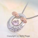 ピンクダイヤモンド たまご&天使の羽 プチペンダント 誕生日プレゼント:N-006