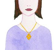 ネックレスの選び方-太くて短い首