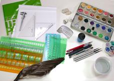 デザイン画を描く道具