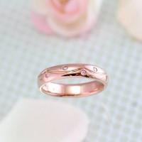 ピンクゴールド×ピンクダイヤ スィート10リング
