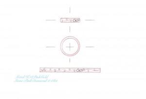 ピンクゴールド×ピンクダイヤ スィート10リング-デザイン画